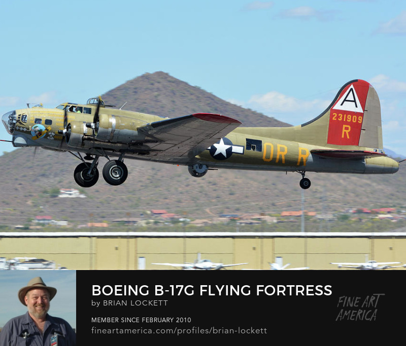 Boeing B-17G Flying Fortress N93012 Nine-o-nine Deer Valley Arizona April 13, 2016
