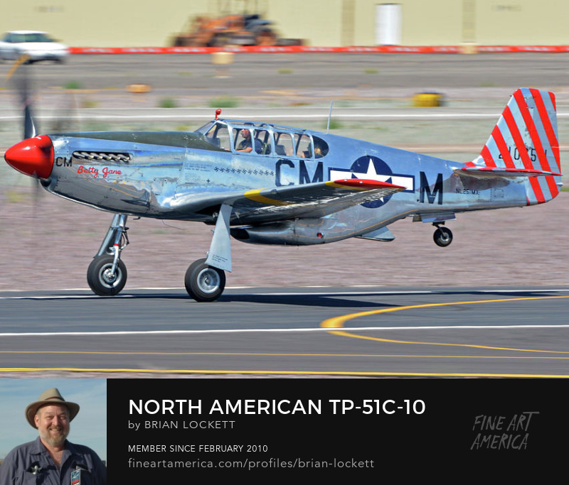 North American TP-51C-10 Mustang NL251MX Betty Jane at Deer Valley, Arizona, April 13, 2016