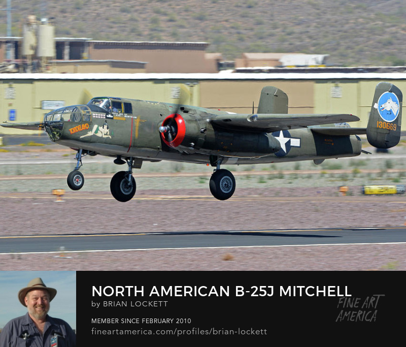 North American B-25J Mitchell Nl3476G Tondelayo at Deer Valley, Arizona, April 13, 2016