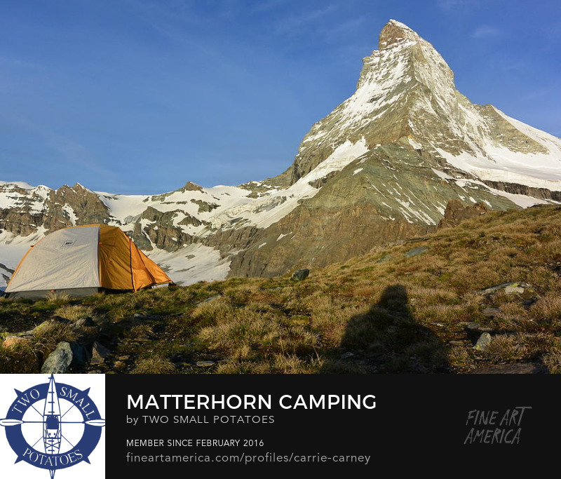 Matterhorn Camping print for sale on Fine Art America