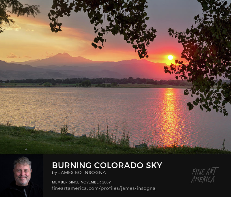 Burning Colorado Sky Art Photography Print