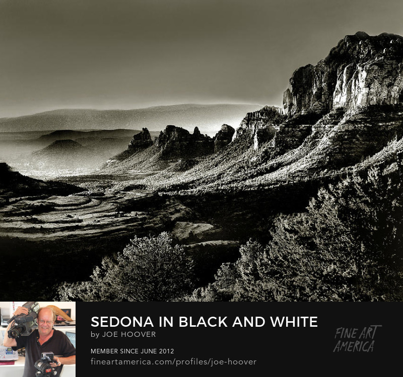 Sedona in Black and Whit Photography Prints by Joe Hoover