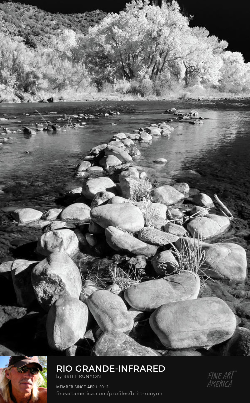 Rio Grande infrared photograph.