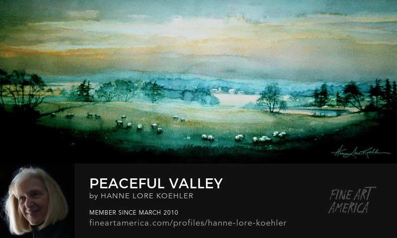 Peaceful Farm Valley Art Prints