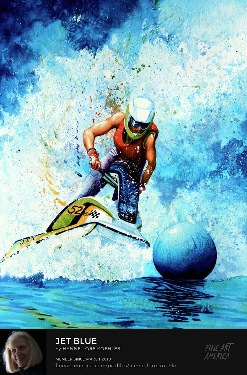 Jet Ski Painting And Art Prints