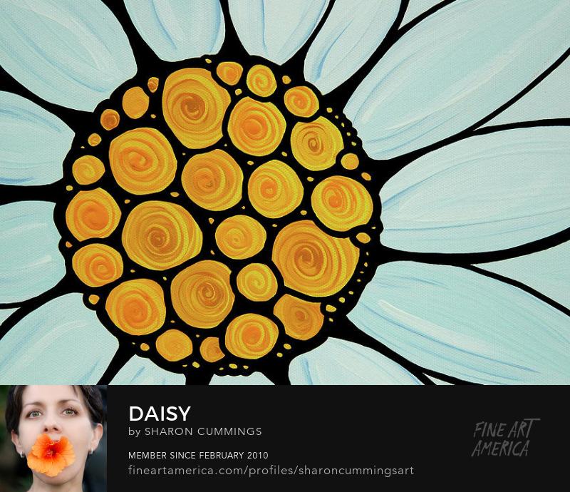 White Daisy Art