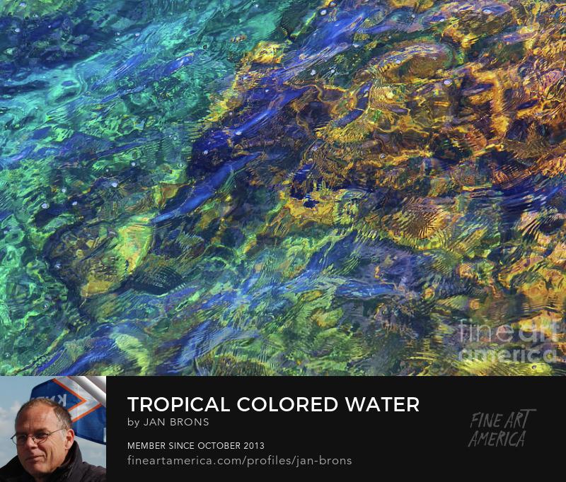 Tropical Colored Water - Art Print