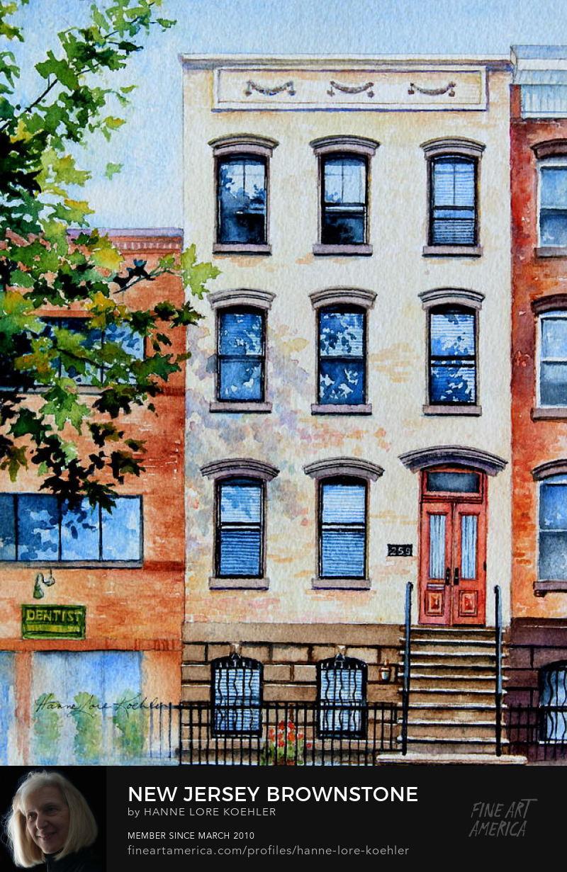 New Jersey Brownstone Home Portrait Thank you Gift