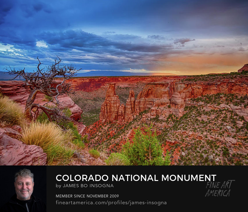 Colorado National Monument Evening Storms Nature Art For Sale