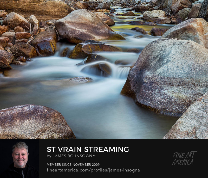 Colorado St Vrain Streaming Photography Prints