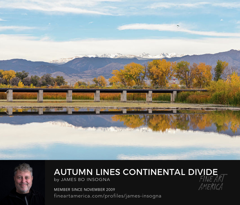 Autumn Lines Continental Divide And Sky Diver Art Prints