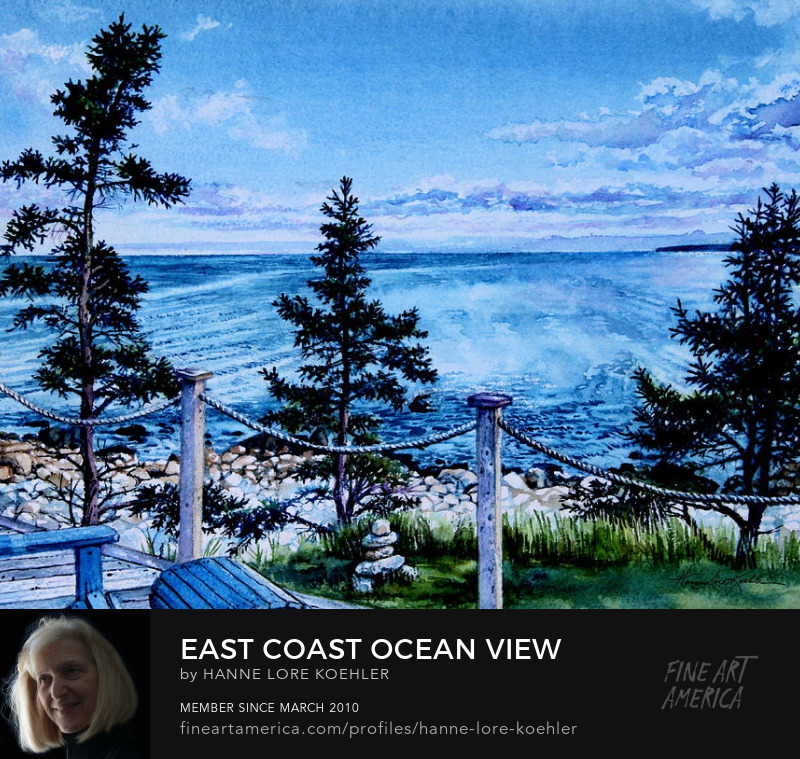east coast ocean view painting