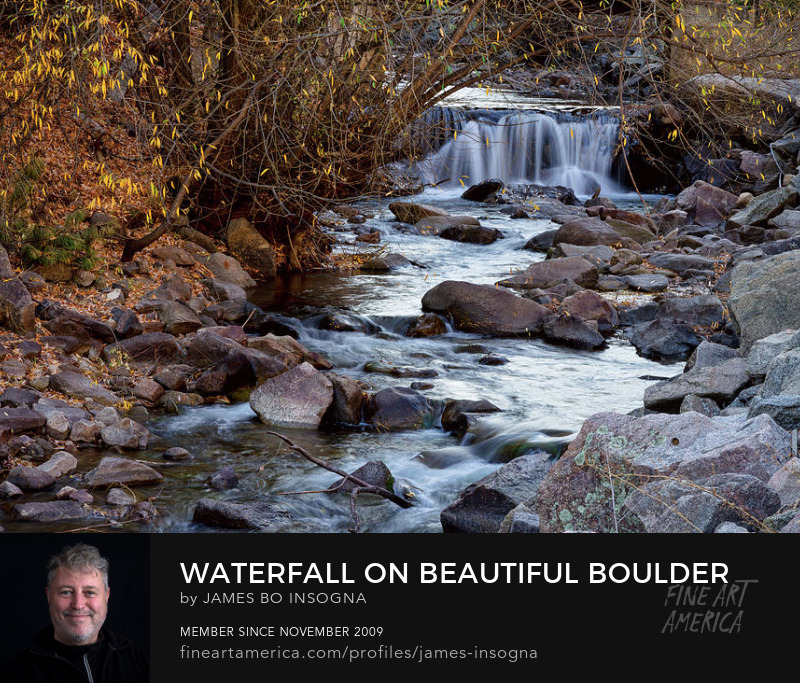 Waterfall On Beautiful Boulder Creek Art Online