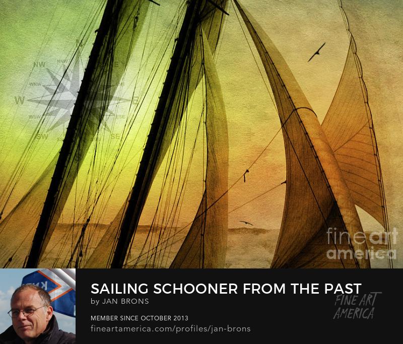Sailing Schooner from the past - Art Online