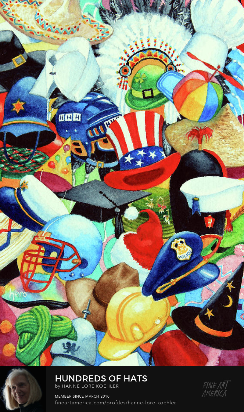 colorful Hats Art Prints