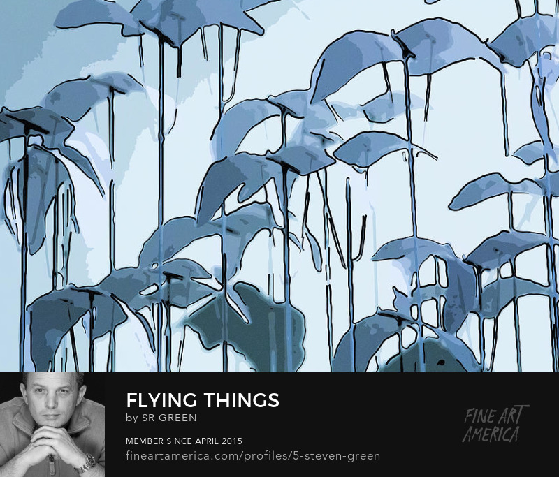 Flying Things Abstract Art by Steven Green