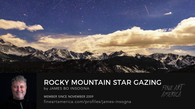 Colorado Rocky Mountain Star Gazing Panorama Art Online