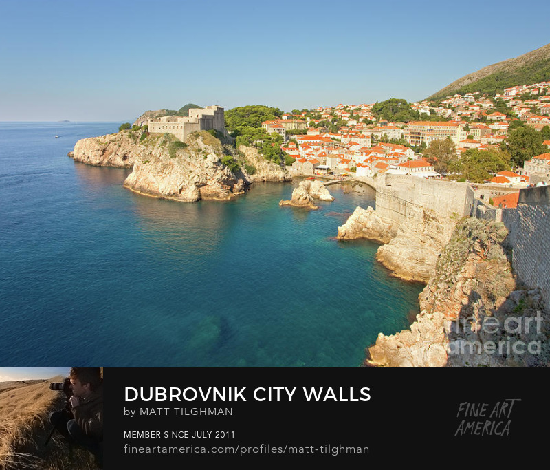 Dubrovnik City Walls Photograph Prints