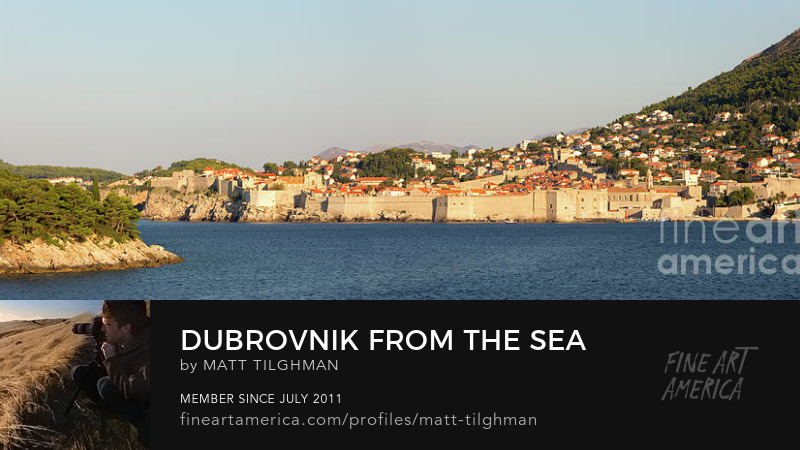 Dubrovnik from the Sea Art Prints