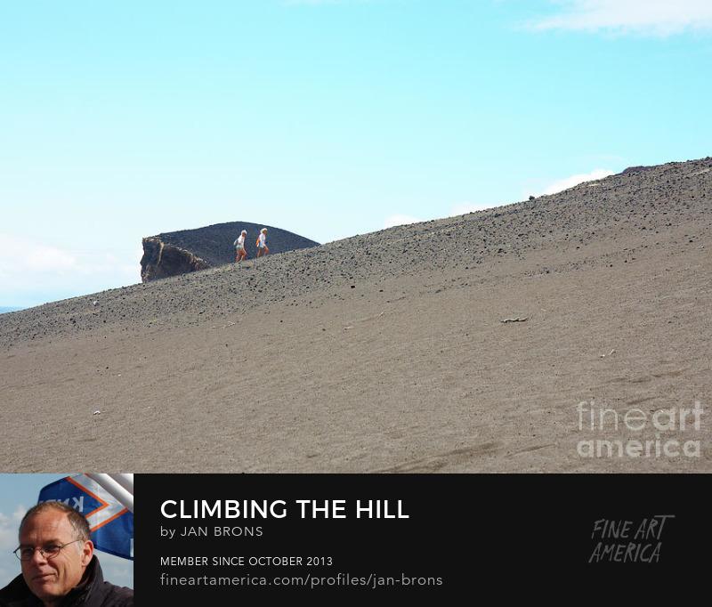 Climbing The Hill - Art Print