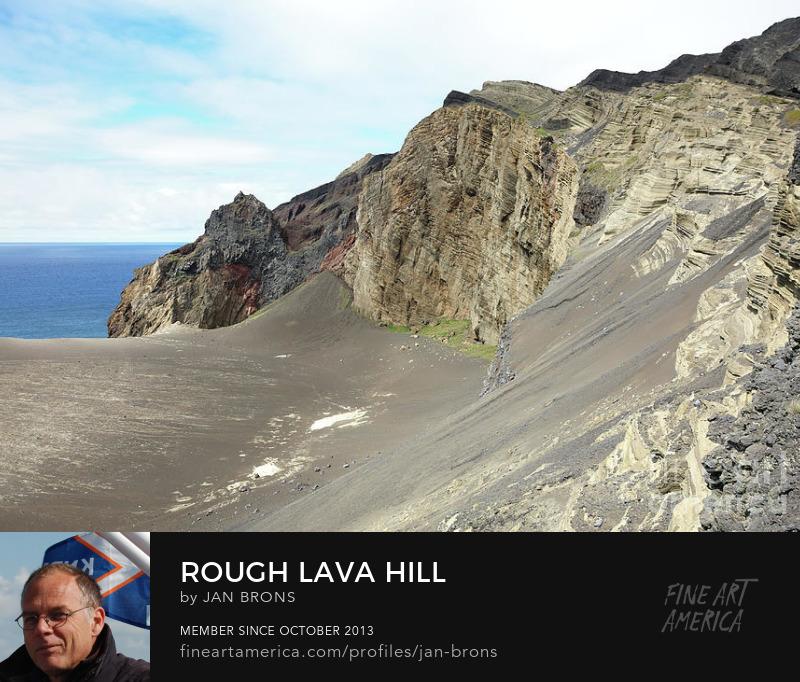 Rough lava hill - Photography Print