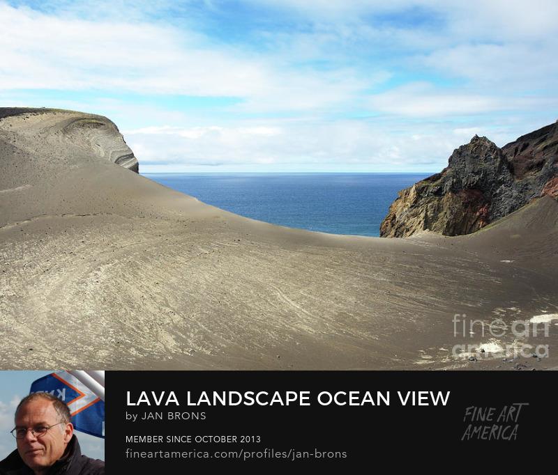 Lava landscape ocean view - Photography Print