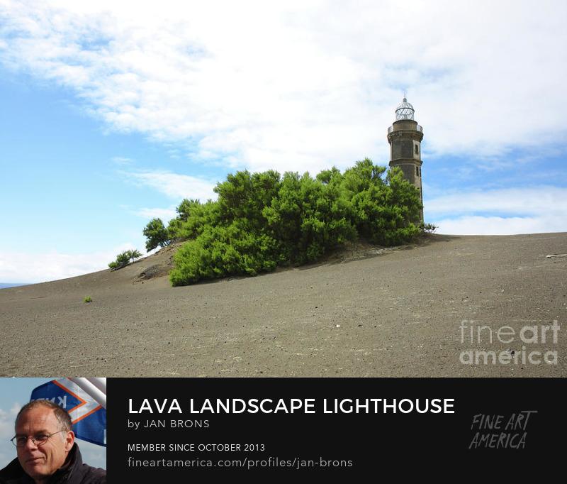 Lava landscape lighthouse - Photography Print