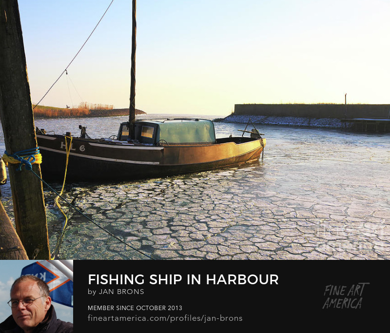 Fishing Ship in Harbour -Photography Print