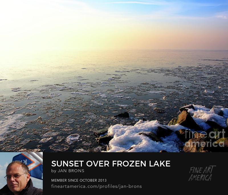 Sunset over Frozen Lake - Art Online