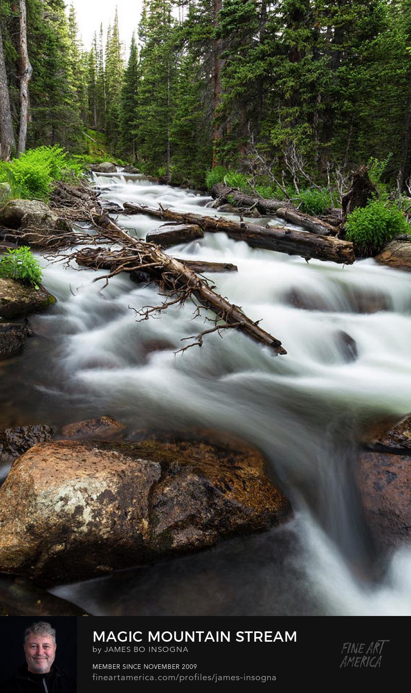 Colorado Magic Mountain Stream Art Prints