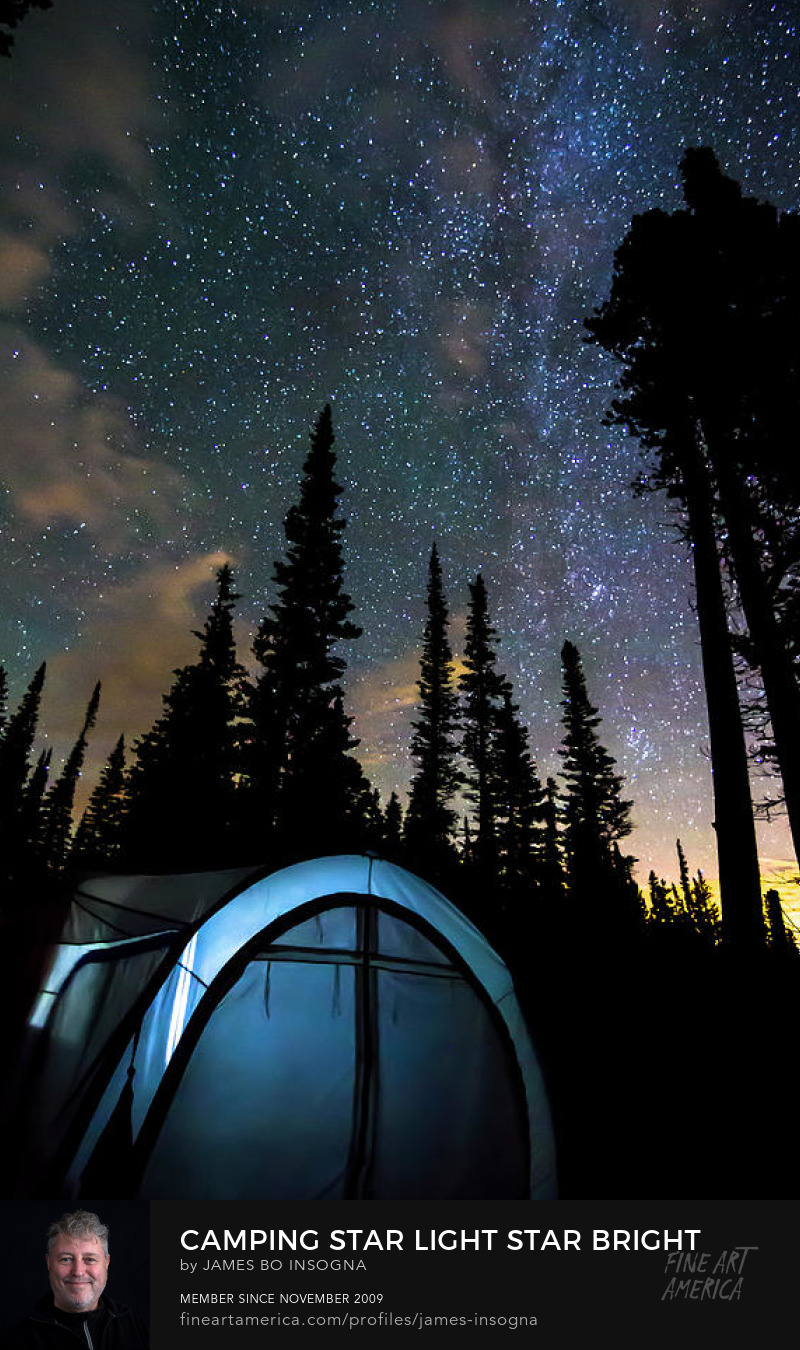 Star Light Star Bright Camping Art Prints
