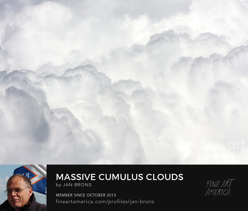 Massive cumulus clouds - Art Print
