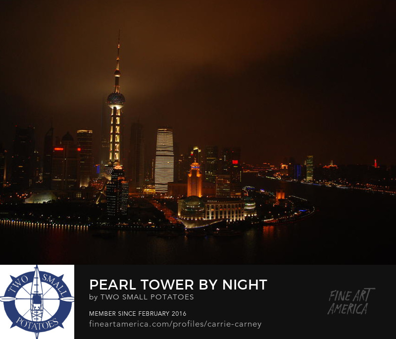 Pearl Tower, Shanghai print for sale on Fine Art America