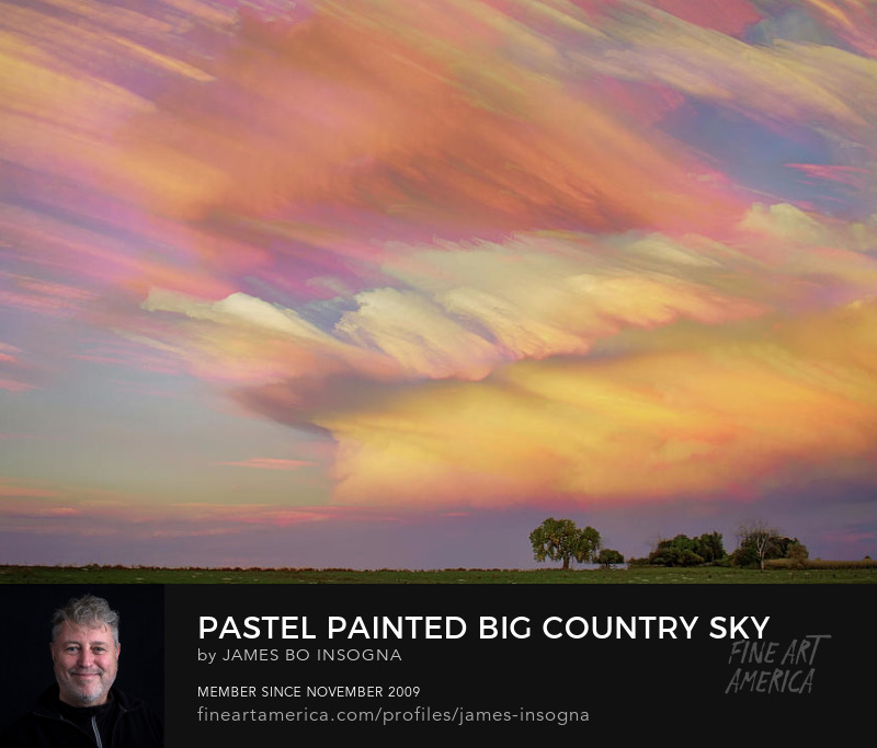 Pastel Painted Big Country Sky Timed Stack Art