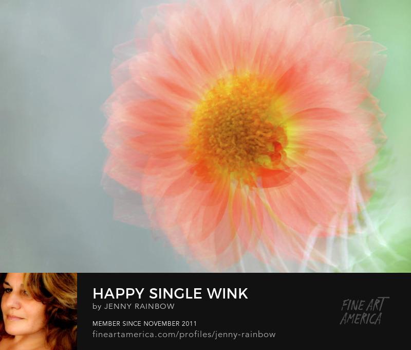 Happy Single Wink by Jenny Rainbow