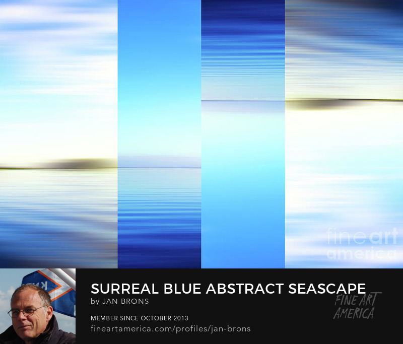 Surreal blue abstract seascape -  Art Online