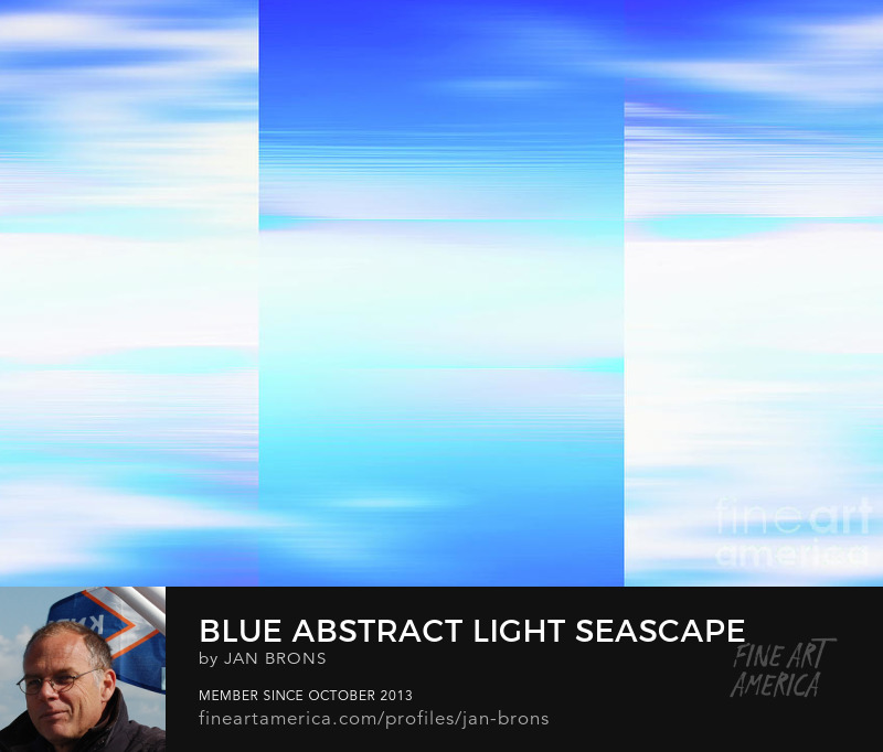Blue abstract light seascape - Photography Prints