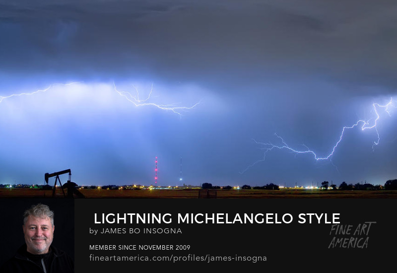 Lightning Michelangelo Style Panorama Art Prints Art Prints