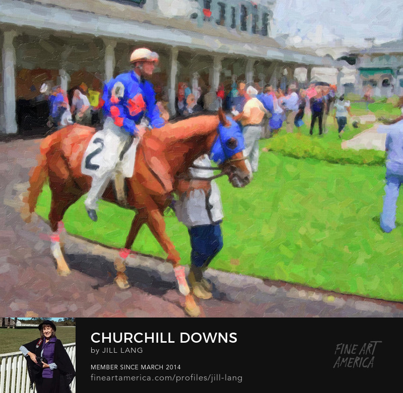 Oil Painting Calvin Borel at Churchill Downs