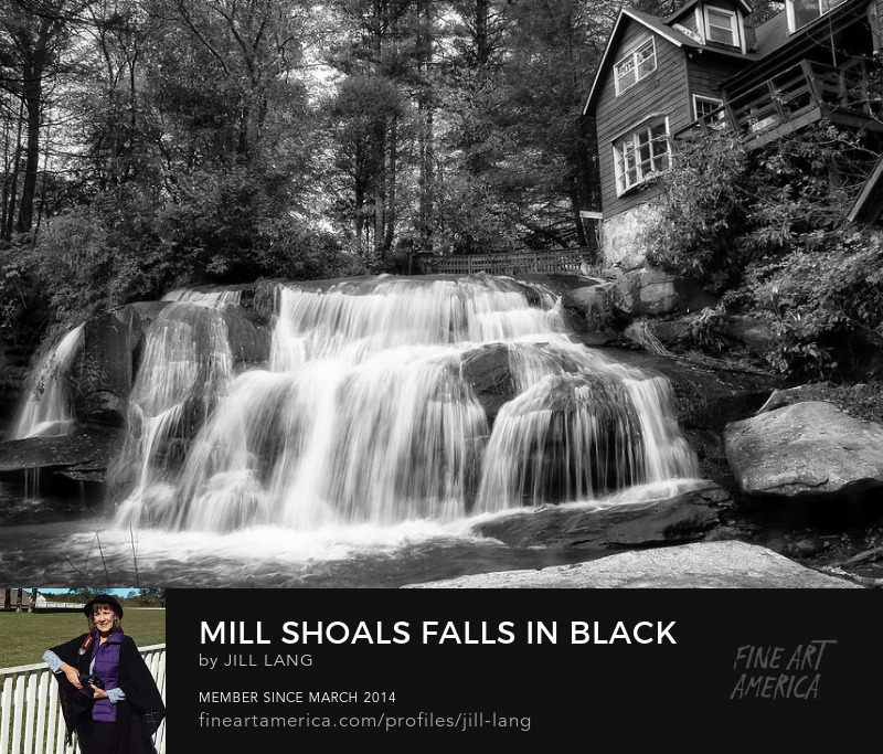 Mill Shoals Falls in Black and White