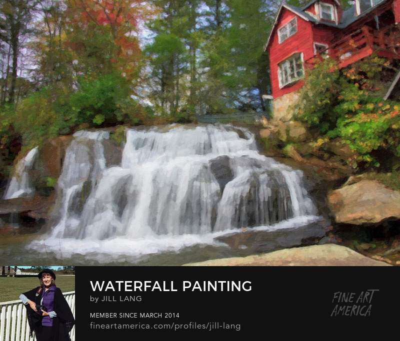 Oil Painting Mill Shoals Falls