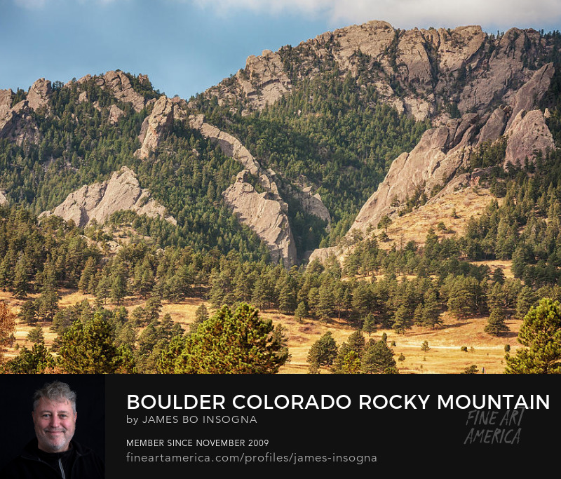 Boulder Colorado Rocky Mountain Foothills Art Prints