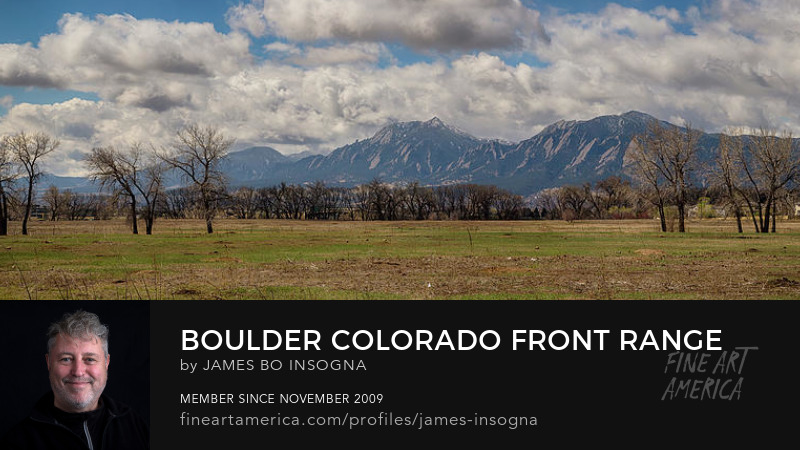 Boulder Colorado Front Range Panorama View Art Prints