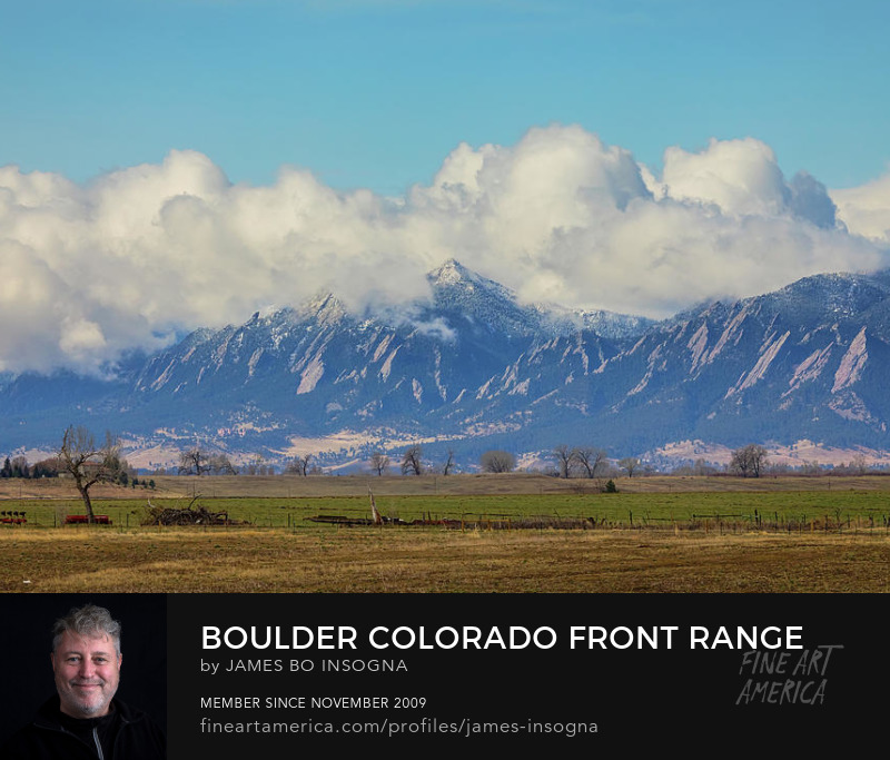 Boulder Colorado Front Range Cloud Pile On Art