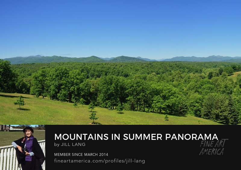 North Carolina mountains in summer