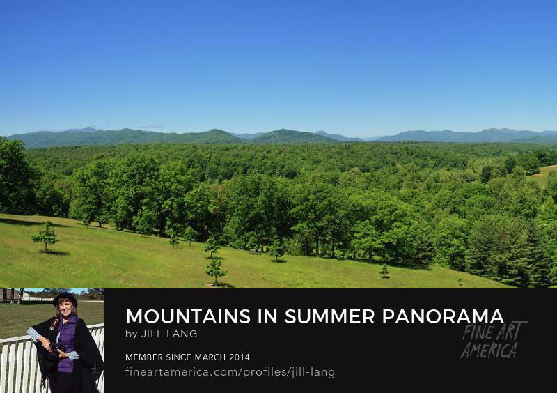 North Carolina mountains in summer