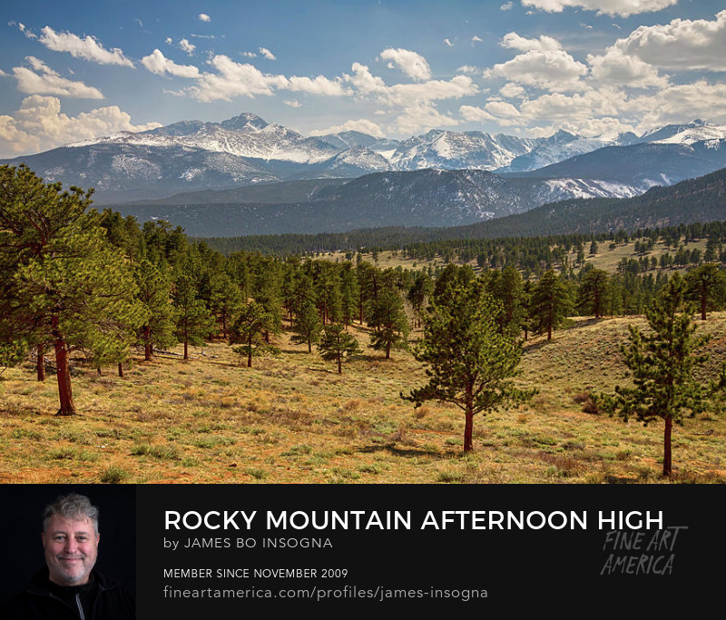 Colorado Rocky Mountain Afternoon High Photography Prints