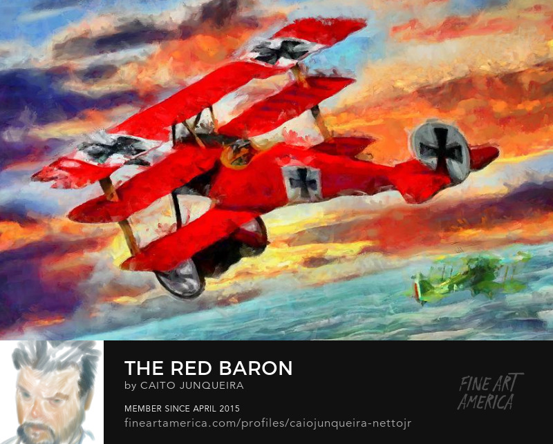 Buy Art Online - red baron poster