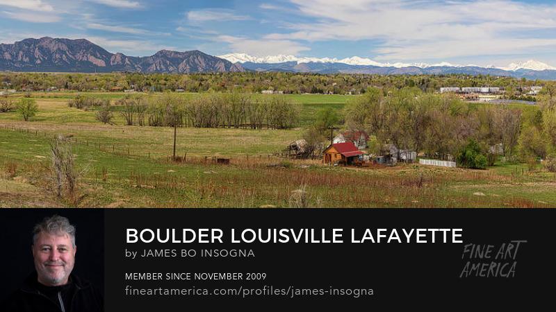 Colorado Front Range Panorama Boulder Louisville Lafayette Art Prints
