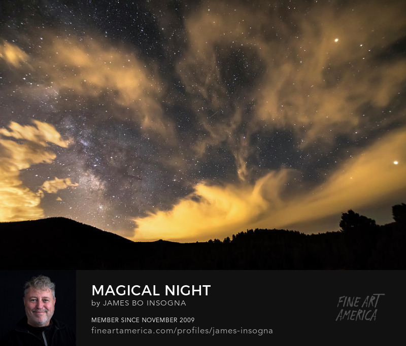 Nighttime Milky Way Magic Art Online
